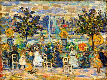 Maurice Prendergast, Dans le Jardin du Luxembourg - 1909 sur Atelier Liesjes