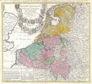 Carte du Benelux 1747