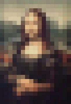 Pixel Art Mona Lisa von JC De Lanaye