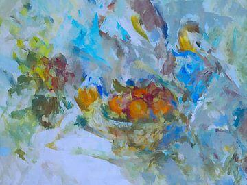 Stilleven met sinaasappels. van Paul Nieuwendijk