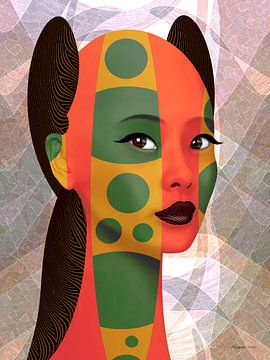 Die Kunst der Farben und des braunen Haares von Ton van Hummel (Alias HUVANTO)