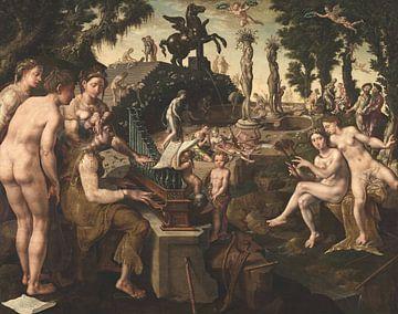 Konzert von Apollon und den Musen auf dem Berg Helicon, Maarten van Heemskerck