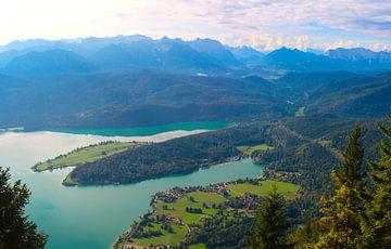 Halbinsel Zwergen im Walchensee, Bayern von Ines Porada