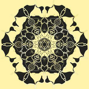 Mandala 006 van Florentijn Bruning