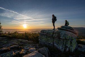 Sonnenaufgang an den Mädelssteinen von