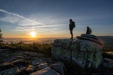 Sonnenaufgang an den Mädelssteinen von Tobias Reißbach