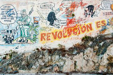 Graffiti revolutie Cuba van Corrine Ponsen