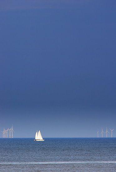 The North Sea at Wijk aan Zee, a beachtown
