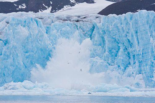 Instortende gletsjer van