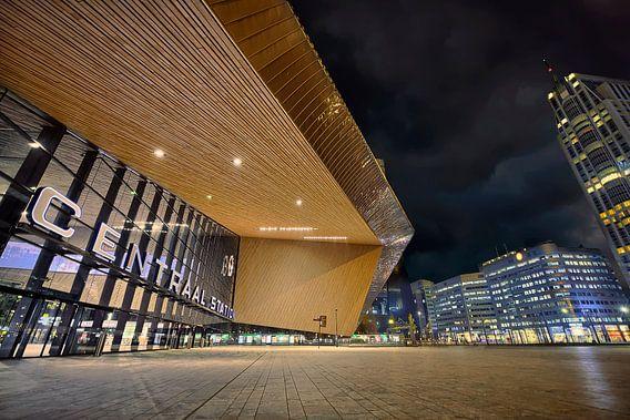 Centraal Station Rotterdam Nederland van Peter Bolman