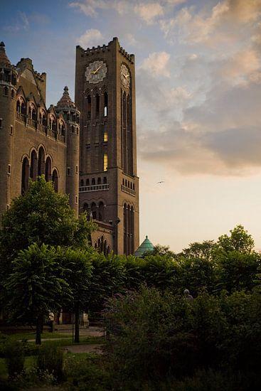 Cathedral of Saint Bavo at sunset van Jasper van der Meij