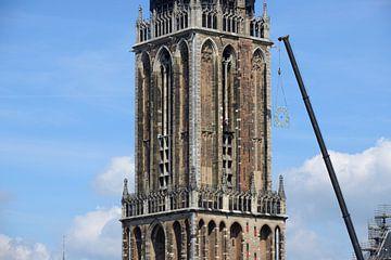 Verwijdering wijzerplaten Domtoren in Utrecht sur In Utrecht