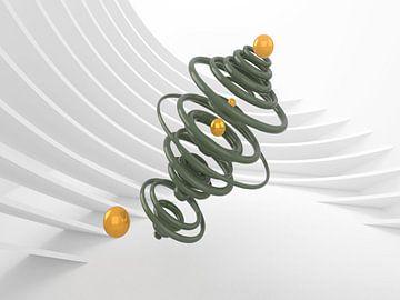 Grüne Spirale mit gelben Murmeln von shoott photography