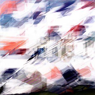 Abstrakt in rot weiß blau von Maurice Dawson