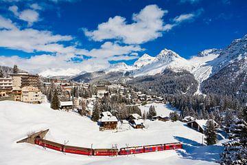 Chemin de fer rhétique à Arosa, Suisse sur Werner Dieterich