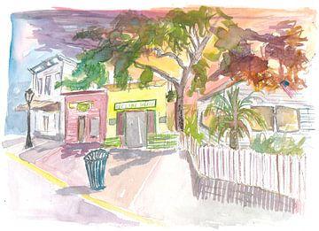 Key West Straßenszene mit Key Lime Pie Bäckerei von Markus Bleichner