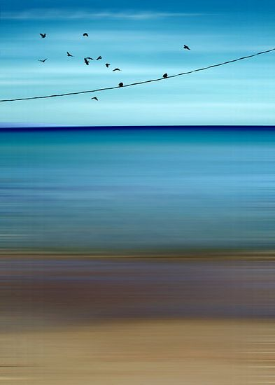 CRETAN SEA & BIRDS II v2 van Pia Schneider