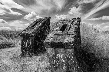 Schloss Frankreich (schwarz-weiß) von SuparDisign