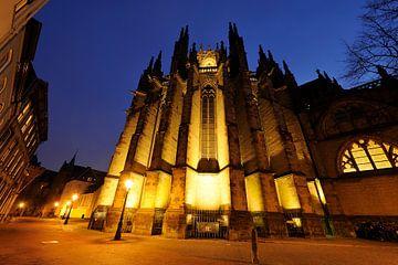 De achterzijde van de Domkerk in Utrecht van Donker Utrecht