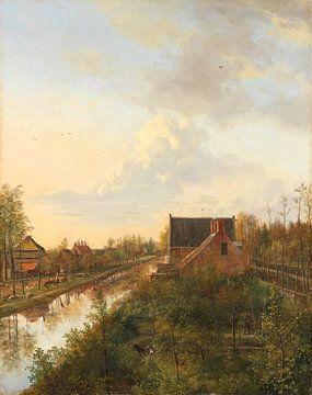 Le canal à 's-Graveland, Pieter Gerardus van Os