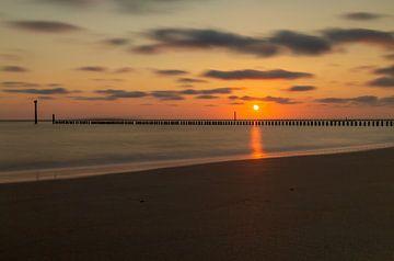 Sonnenuntergang auf See von MSP Canvas