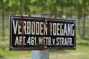 Verbotsschild im Naturschutzgebiet von Maarten de Jong