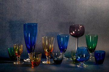 stilleven met glasservies