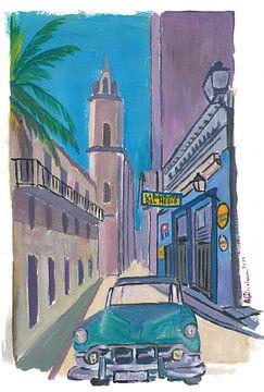 Havanna Kuba La Bodeguita Del Medio Straßenszene von Markus Bleichner