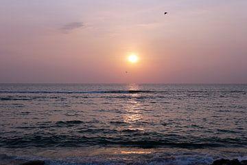 Zonsondergang Indische Oceaan, Sri Lanka van Andrew Chang