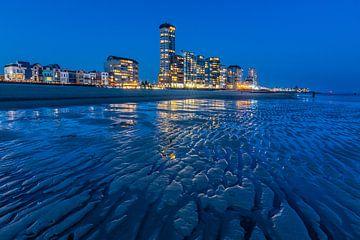 Boulevard Vlissingen in het blauwe uurtje van Jan Poppe