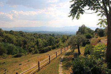 Toskanischer Hügel Landschaft von Paul Franke