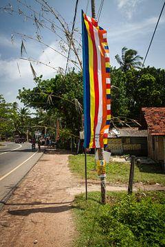 kleurrijke vlag, Boeddhisme, Sri Lanka. van