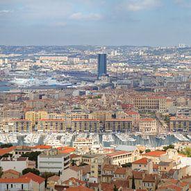 Uitzicht op Marseille, Frankrijk von Teuni's Dreams of Reality