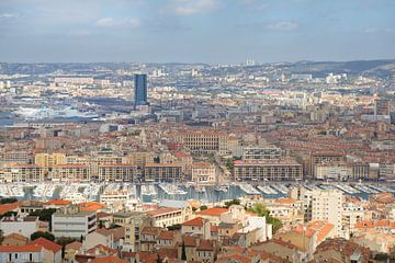 Uitzicht op Marseille, Frankrijk sur Teuni's Dreams of Reality