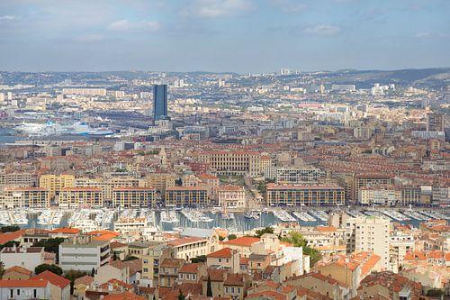 Uitzicht op Marseille, Frankrijk van