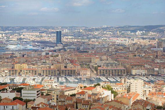 Uitzicht op Marseille, Frankrijk