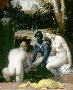 Het toilet van Bathseba, Cornelis Cornelisz. van Haarlem,