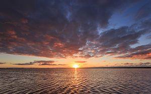 Zonsondergang bij Lauwersoog