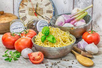 Spaghetti met basilicum van Uwe Merkel