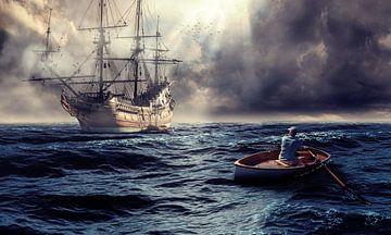 Kijkend naar een prachtig schip van Bert Hooijer