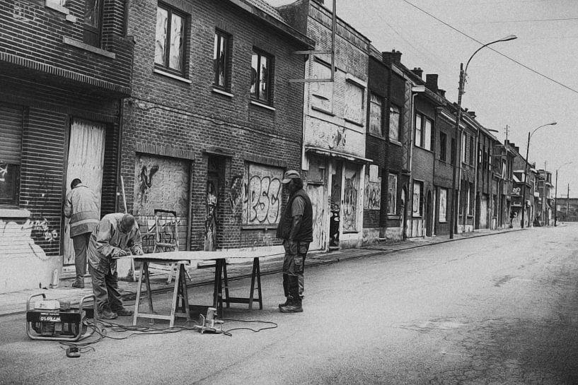 Doel, verlaten dorp in België  van marleen brauers