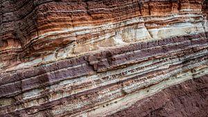 Rotswand erosie structuur Helgoland