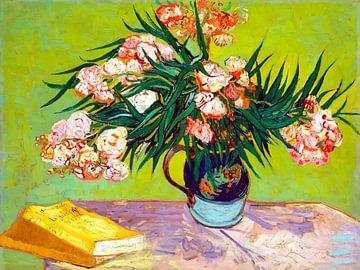 Oleanders - Vincent van Gogh - 1888 van Jan Willem van Doesburg