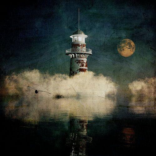 Träume – Der Leuchtturm im blauen Nebel von