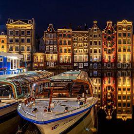 Amsterdam - Damrak in stilte van Marco Schep