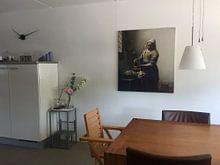 Klantfoto: Het Melkmeisje - Vermeer Schilderij (HQ) van Schilderijen Nu