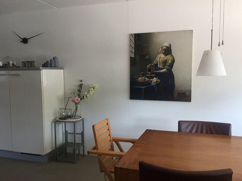 Photo de nos clients: La Laitière - Vermeer tableau sur Schilderijen Nu