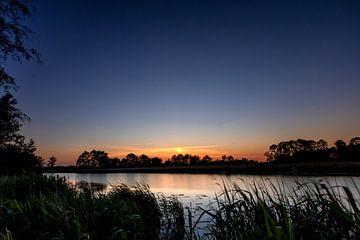 Sonnenuntergang Leekstervaart von Jacques Jullens