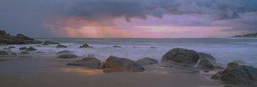 Purple sunset van