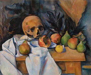 Stilleben mit einem Totenkopf, Paul Cézanne (ca. 1896-1898) von Atelier Liesjes